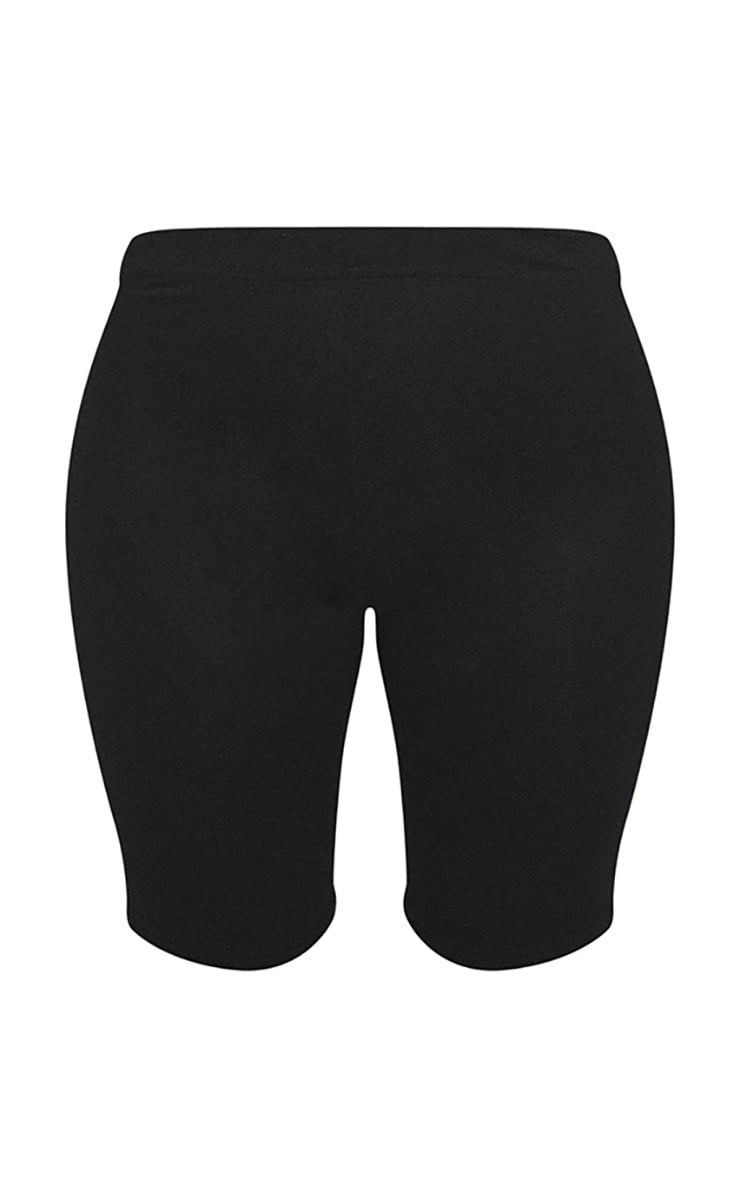 Basic Black Cotton Blend Cycle Shorts 6