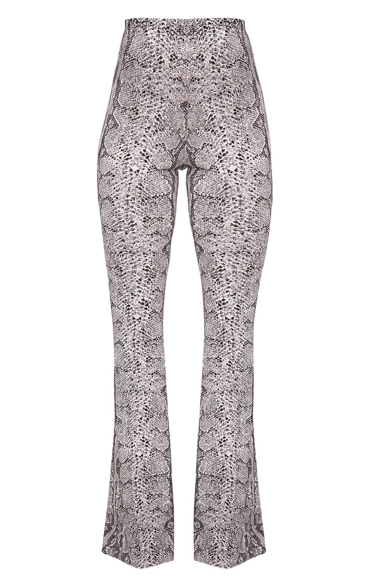 Madilyn Snake Print Flared Trousers 3
