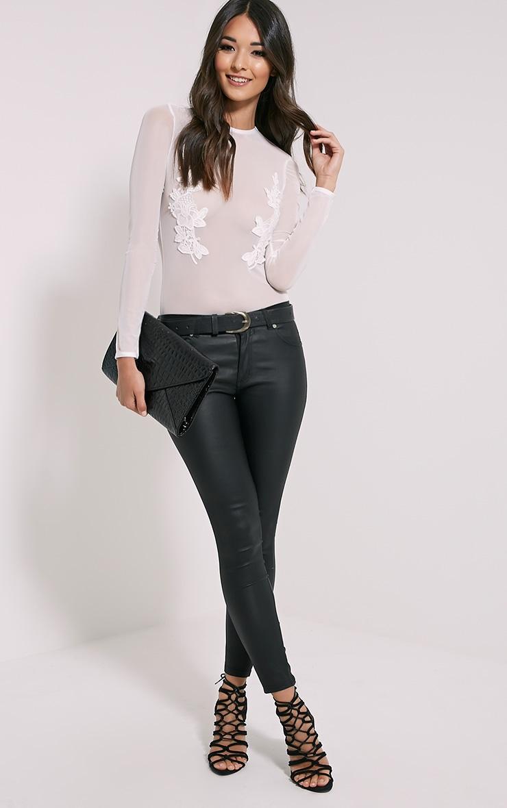 Tia White Lace Applique Bodysuit 4