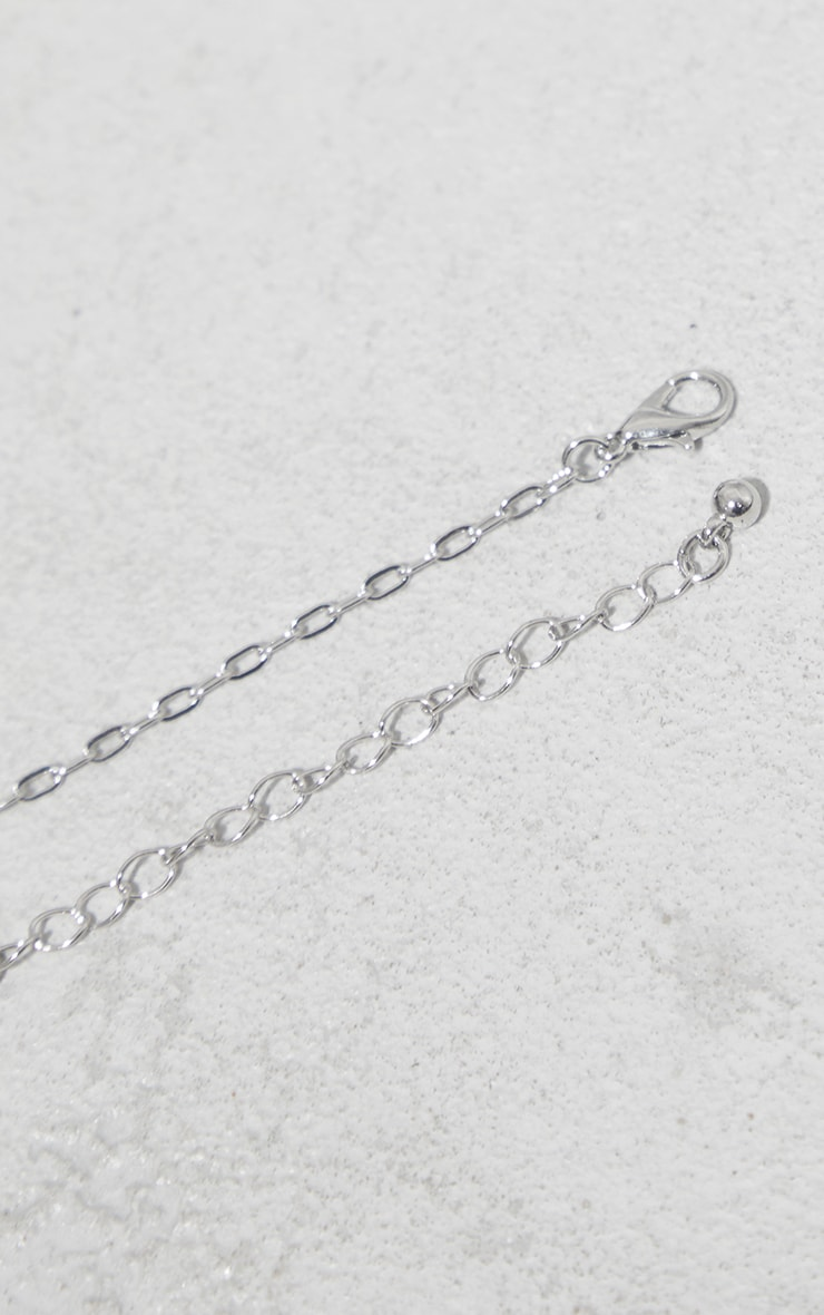 Silver Dainty Dog Tag Necklace 3