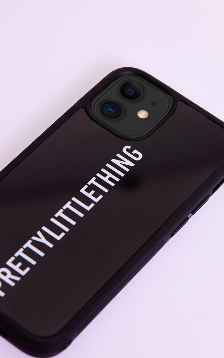 PRETTYLITTLETHING Black Logo iPhone 12 Mini Phone Case 3