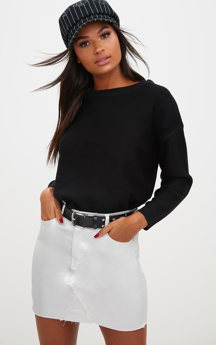Black Boxy Basic Jumper 1