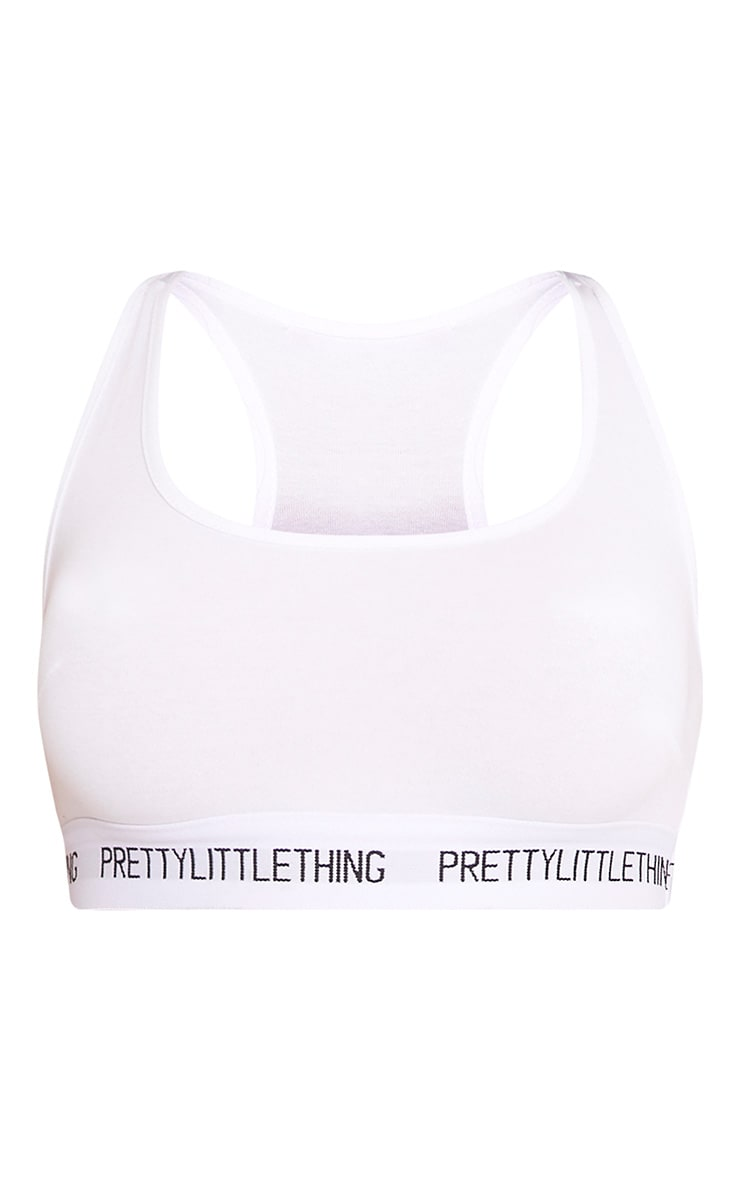 PRETTYLITTLETHING White Sports Bra 4