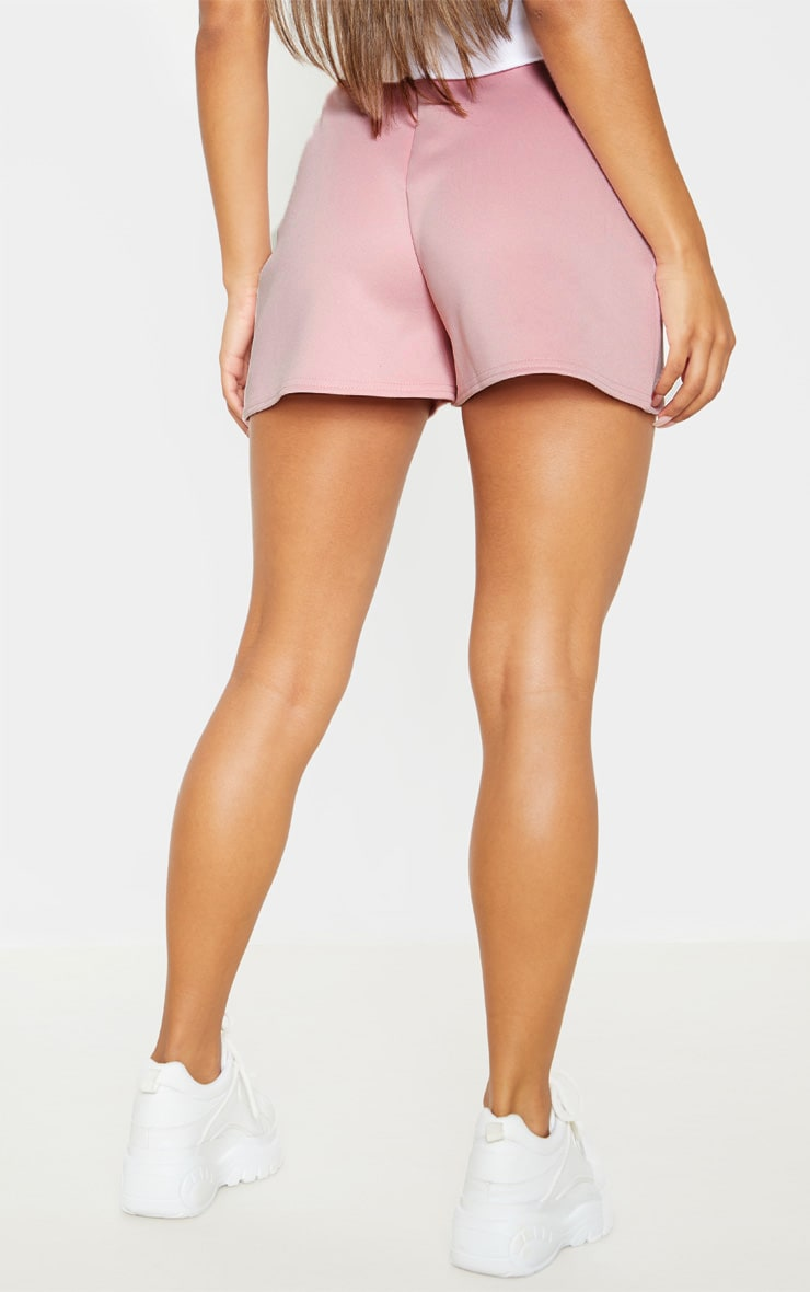 Dusty Pink Seam Detail Tailored Short  4