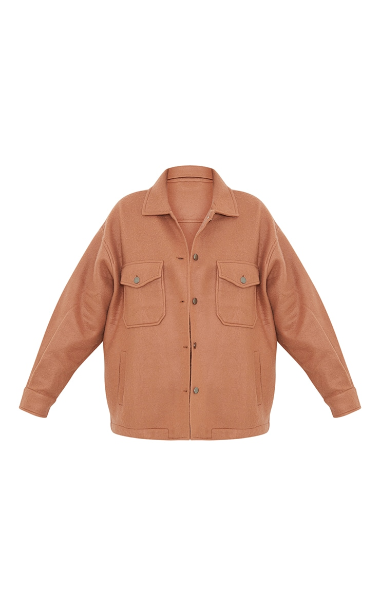 Camel Pocket Front Shacket 5