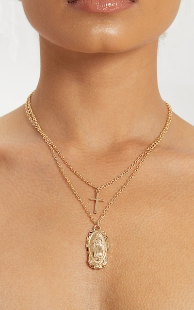Necklaces Gold Silver Necklaces For Women Prettylittlething Usa