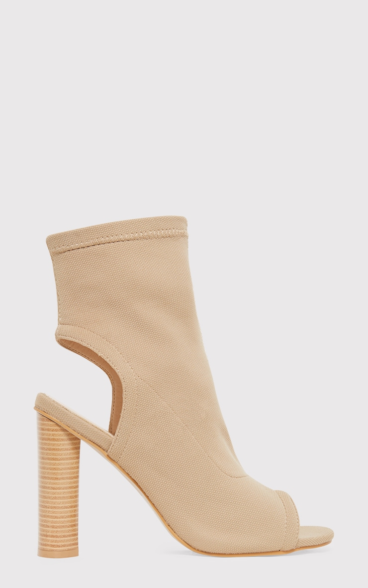 Cassidy Nude Knitted Cut Out Heels 2