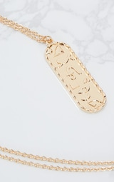 Gold Renaissance Ancient Numerals Pendant Necklace 4