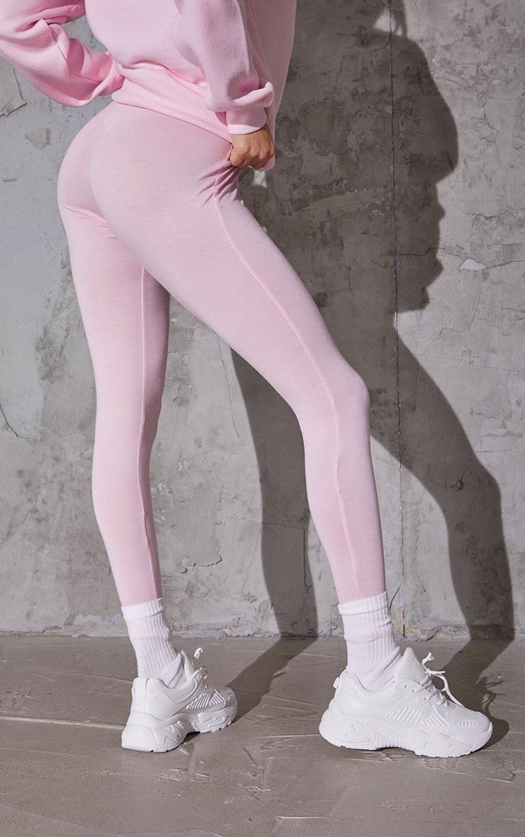 Baby Pink Basic Leggings 3