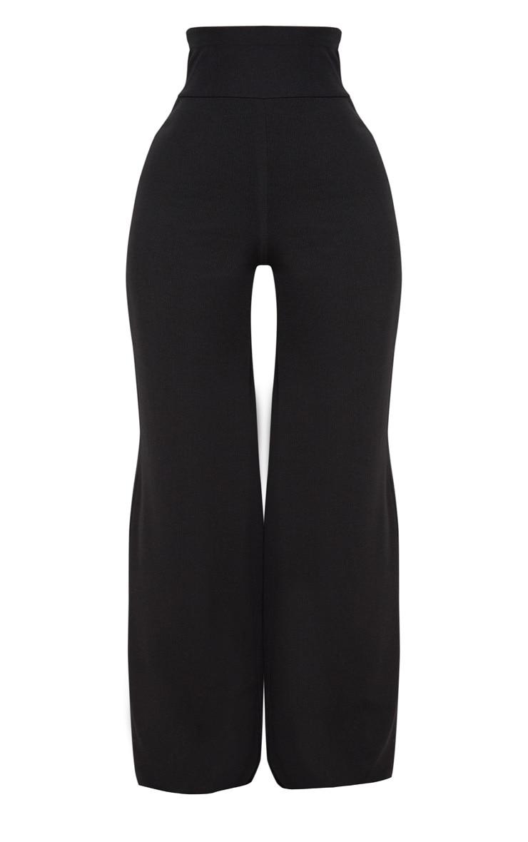 Shape Black Bandage Extreme High Waist Wide Leg Trousers 3