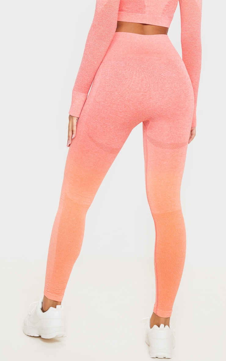 Coral Ombre High Waist Sports Seamless Legging 4
