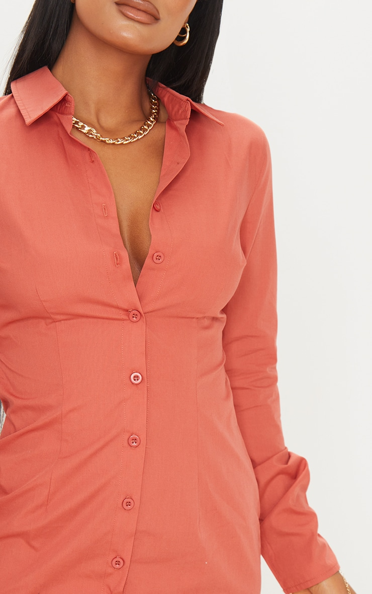 Clay Cut Out Tie Back Detail Shirt Dress 4