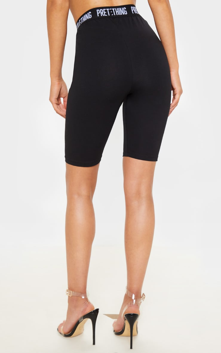 PRETTYLITTLETHING Black Cycle Short 4