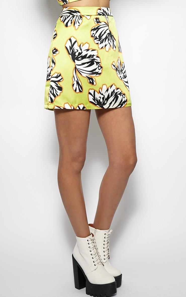Yasmin Floral A Line Skirt  4