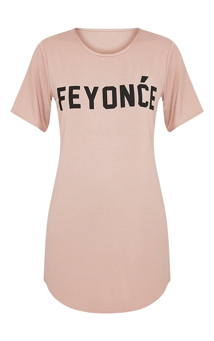 Feyonce Nude Slogan Oversized Nightie 3