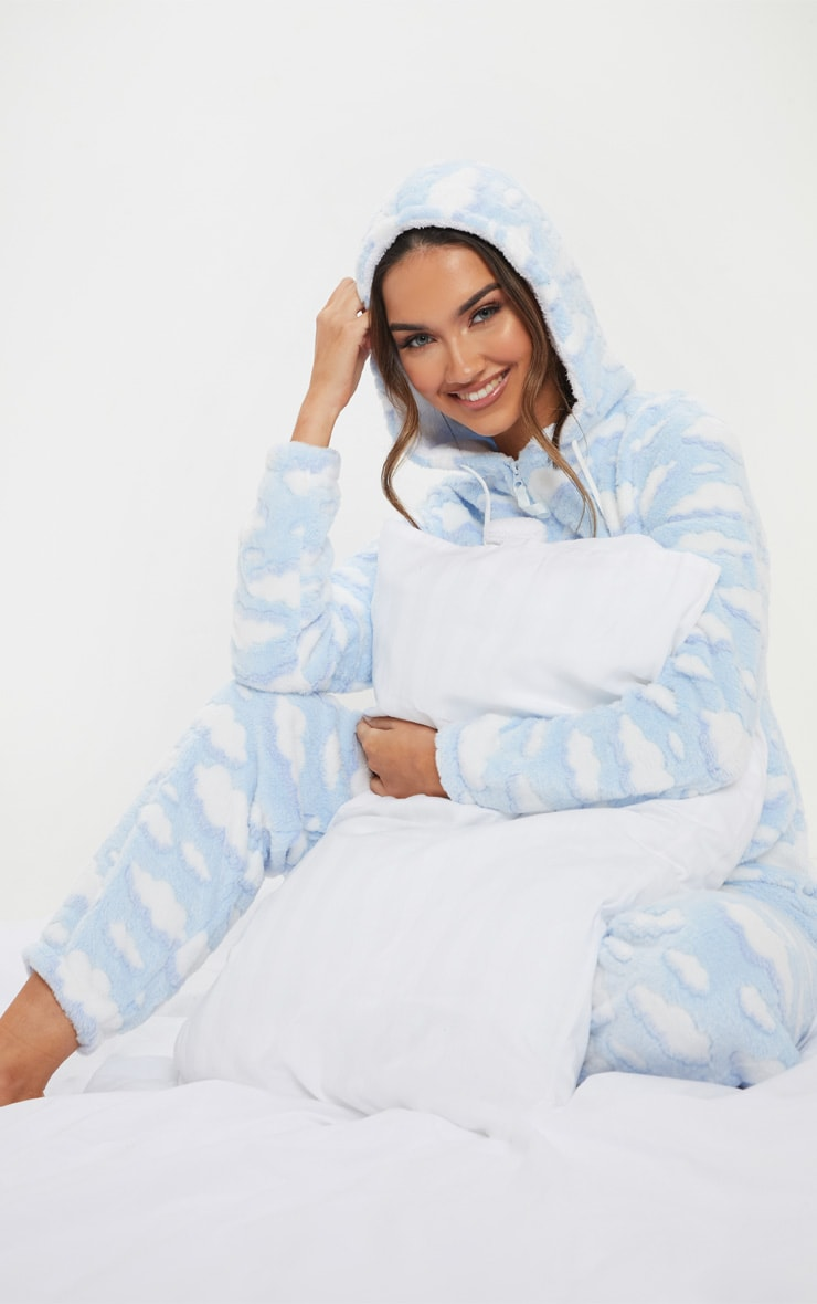 Light Blue Cloud Onesie 1