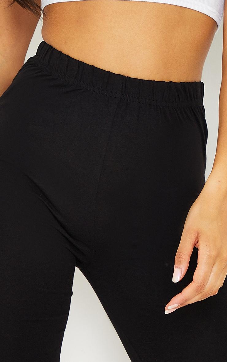Basic Black Cotton Blend 2 Pack Cycle Shorts 5