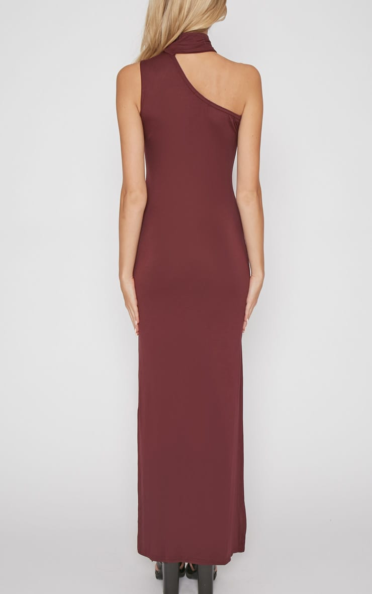 Jennifer Burgundy Thigh Split Maxi Dress 2