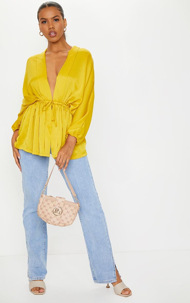 Golden Yellow Kimono Top 3