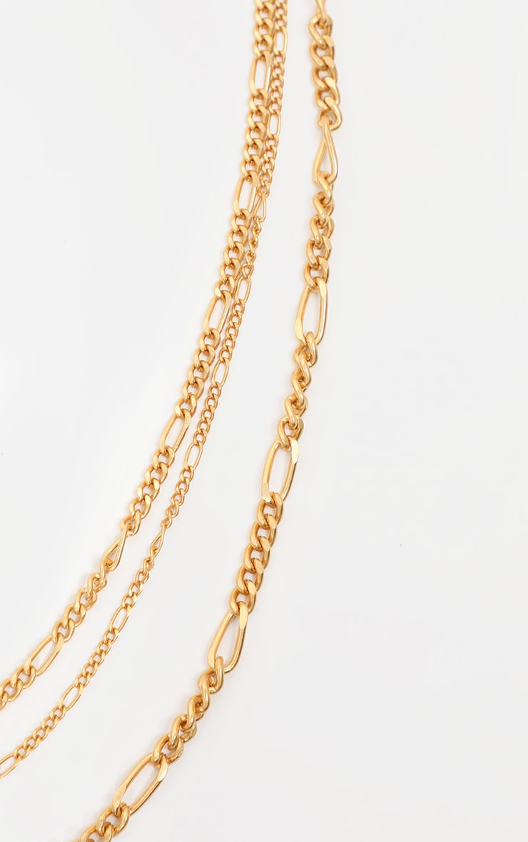 Gold Multi Layered Necklace 3