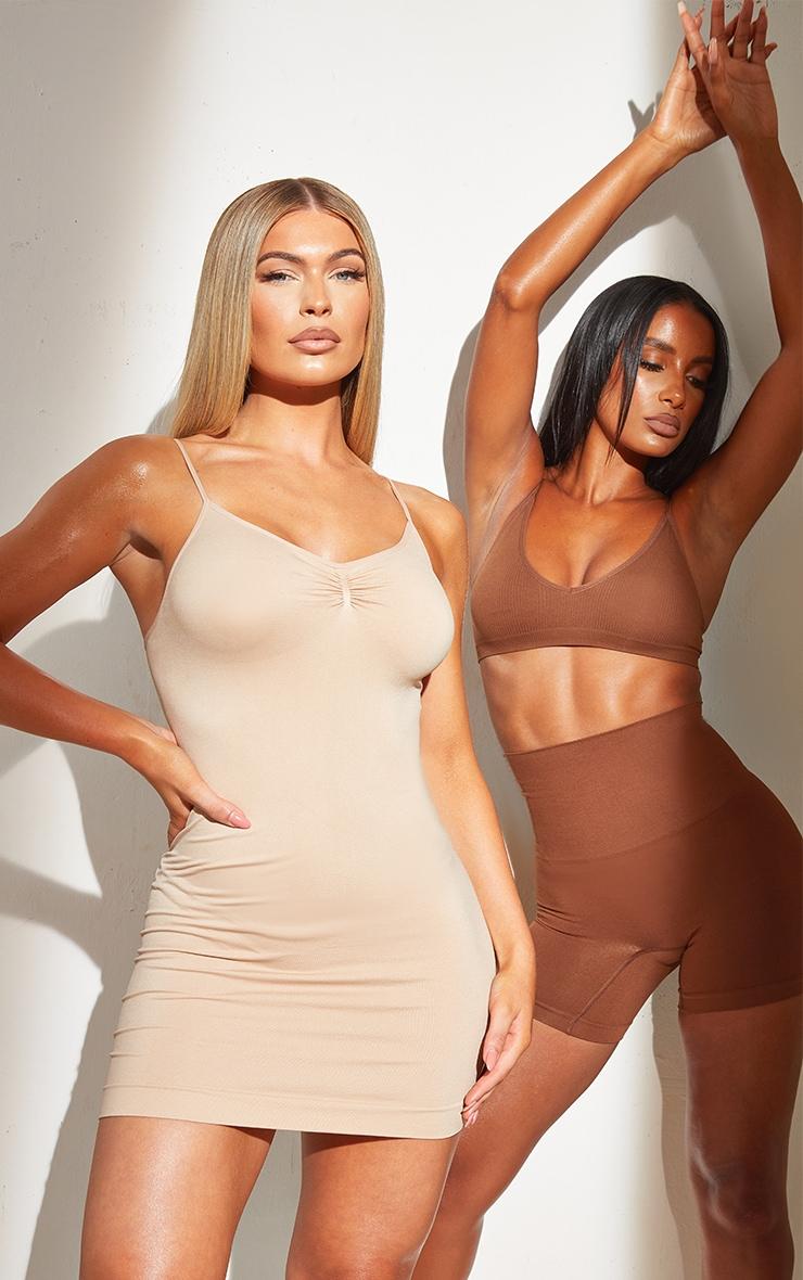 Nude Shapewear Control Slip Dress 1