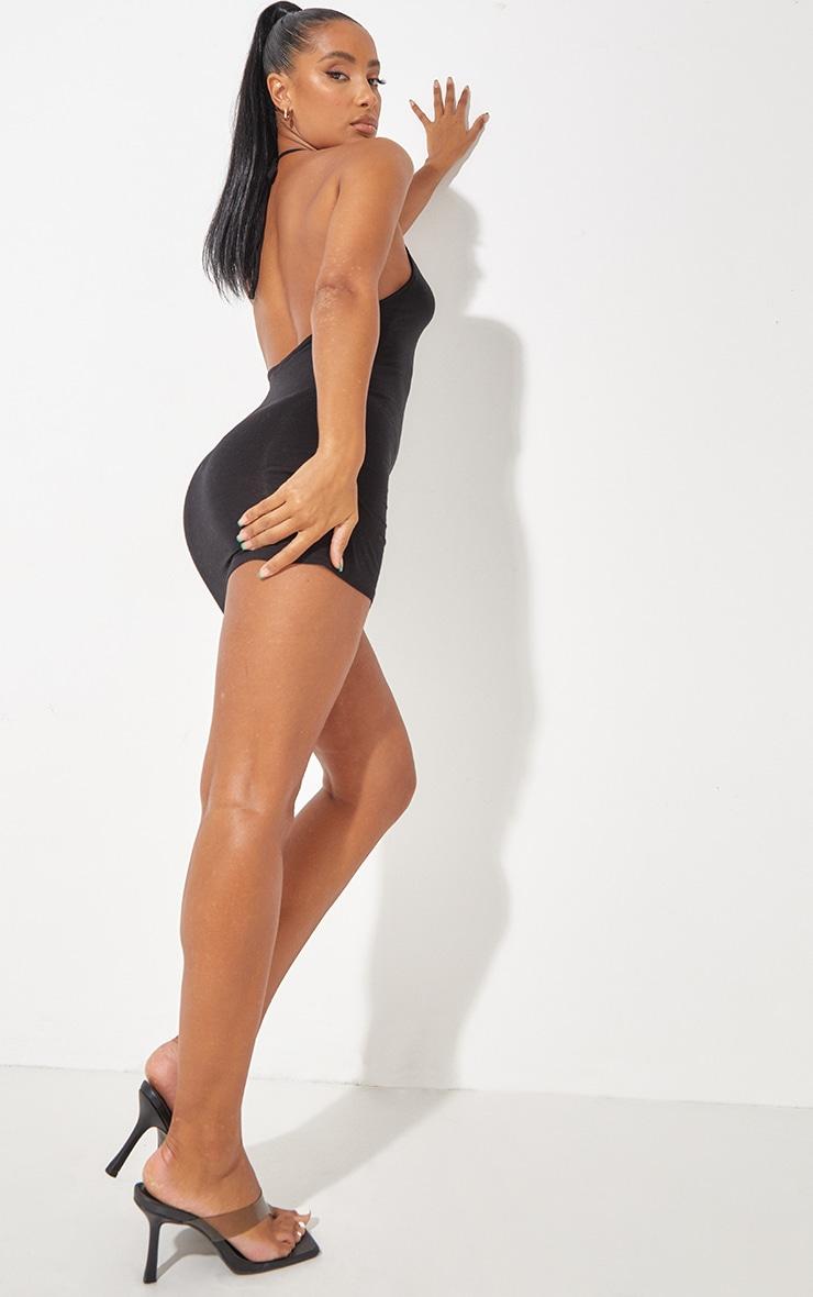 Robe moulante basique noire à dos nu 3