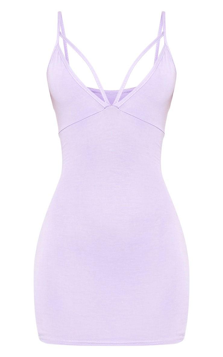 Riana Lilac Strap Detail Bodycon Dress 3