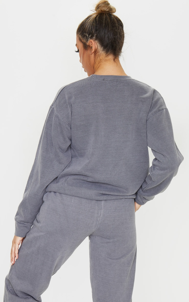 PRETTYLITTLETHING - Sweat de sport gris anthracite 2