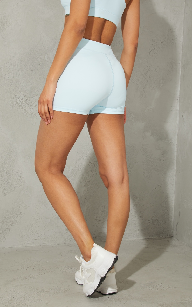 Baby Blue Sculpt Luxe Booty Shorts 3