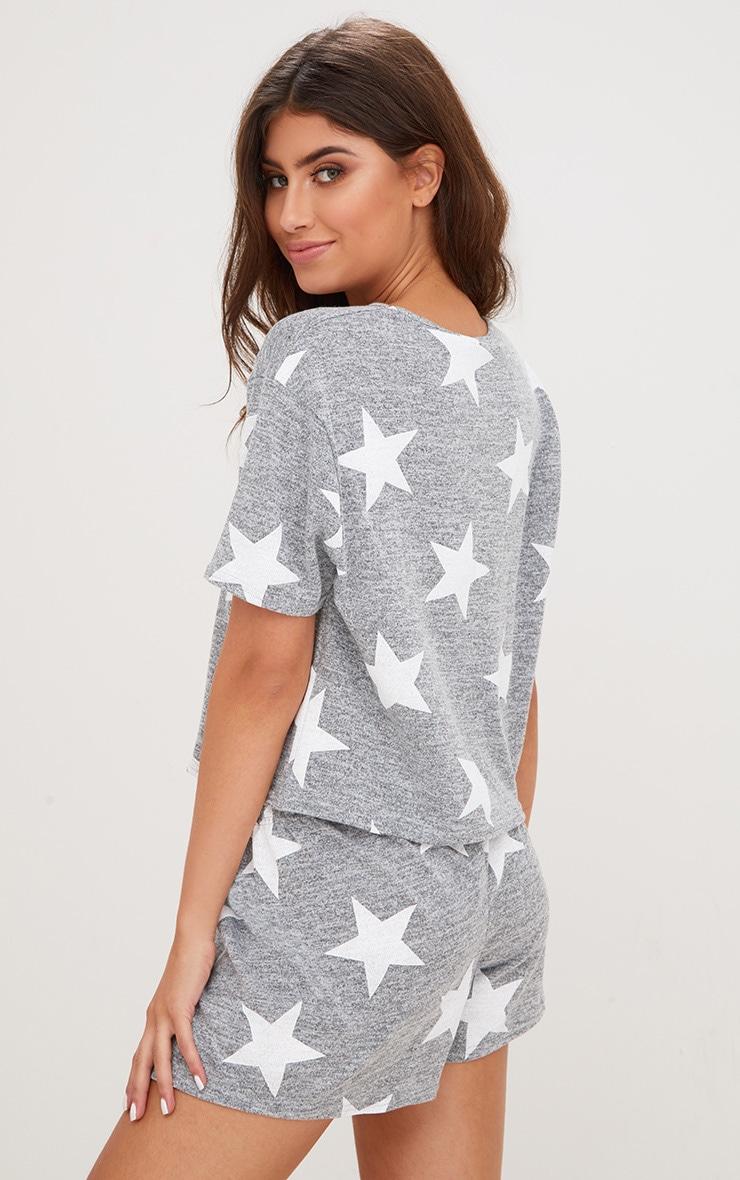 Grey Star T Shirt PJ Set  2