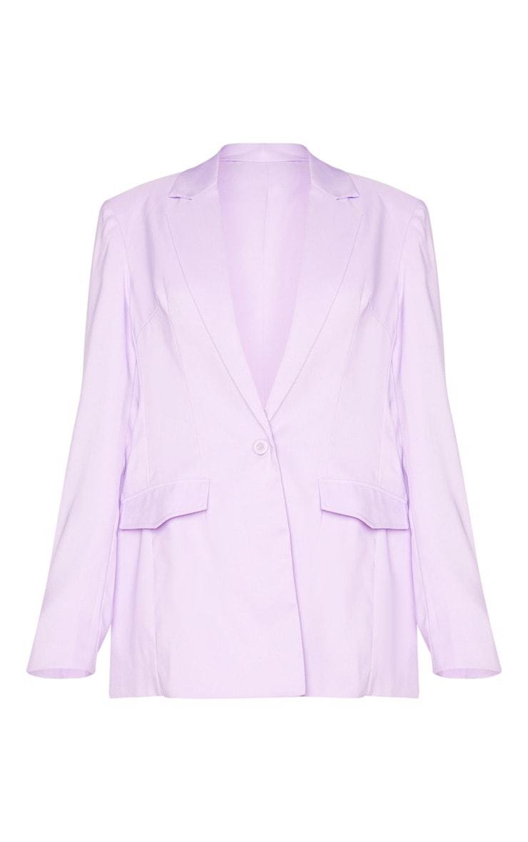 Lilac Oversized Blazer 5