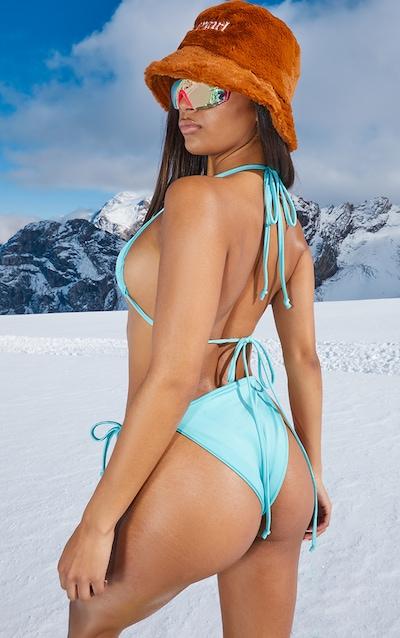 Aqua Triangle Bikini Top
