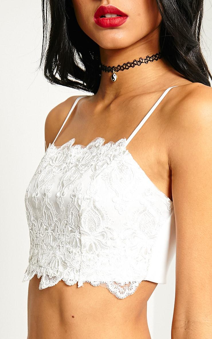 Doris White Lace Bralet 5