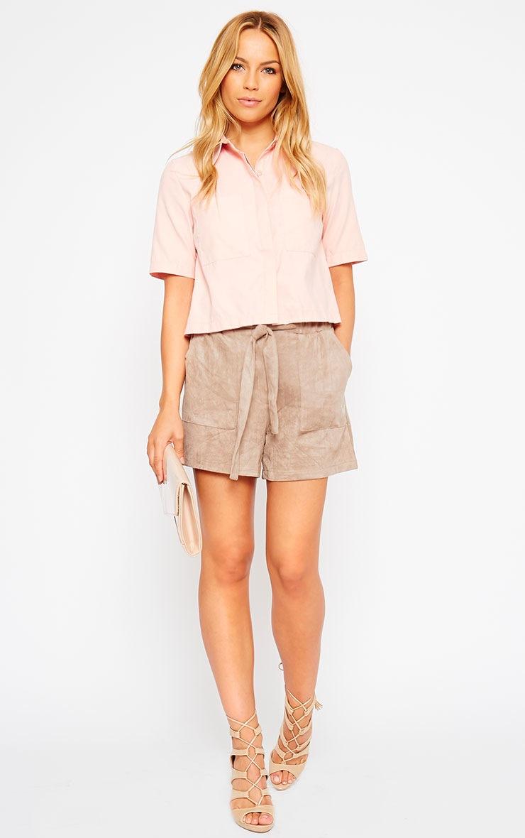 Brona Pink Crop Utility Shirt 3