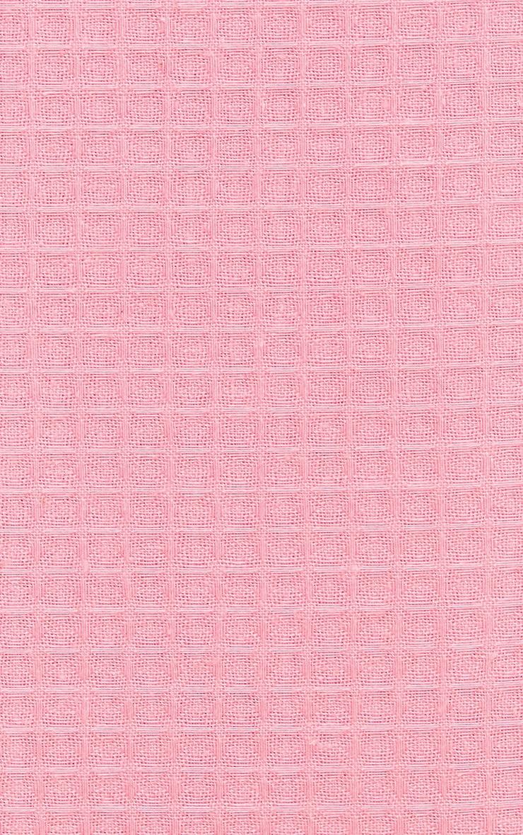 PRETTYLITTLETHING Pink Waffle Super King Duvet Set 3