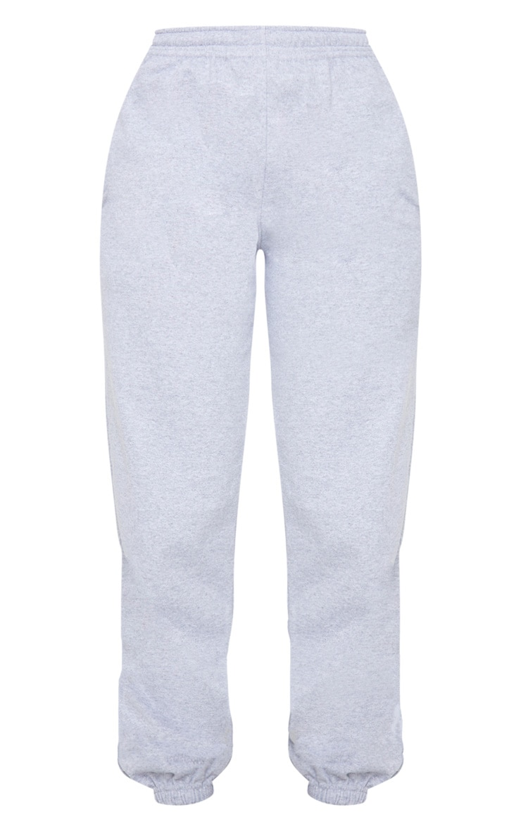 PRETTYLITTLETHING Grey Badge Detail Sport Joggers 6