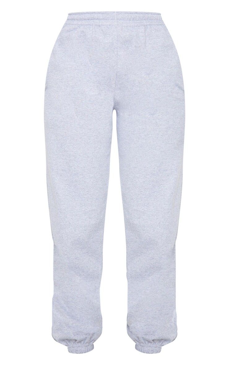 PRETTYLITTLETHING Grey Badge Detail Sport Joggers 5