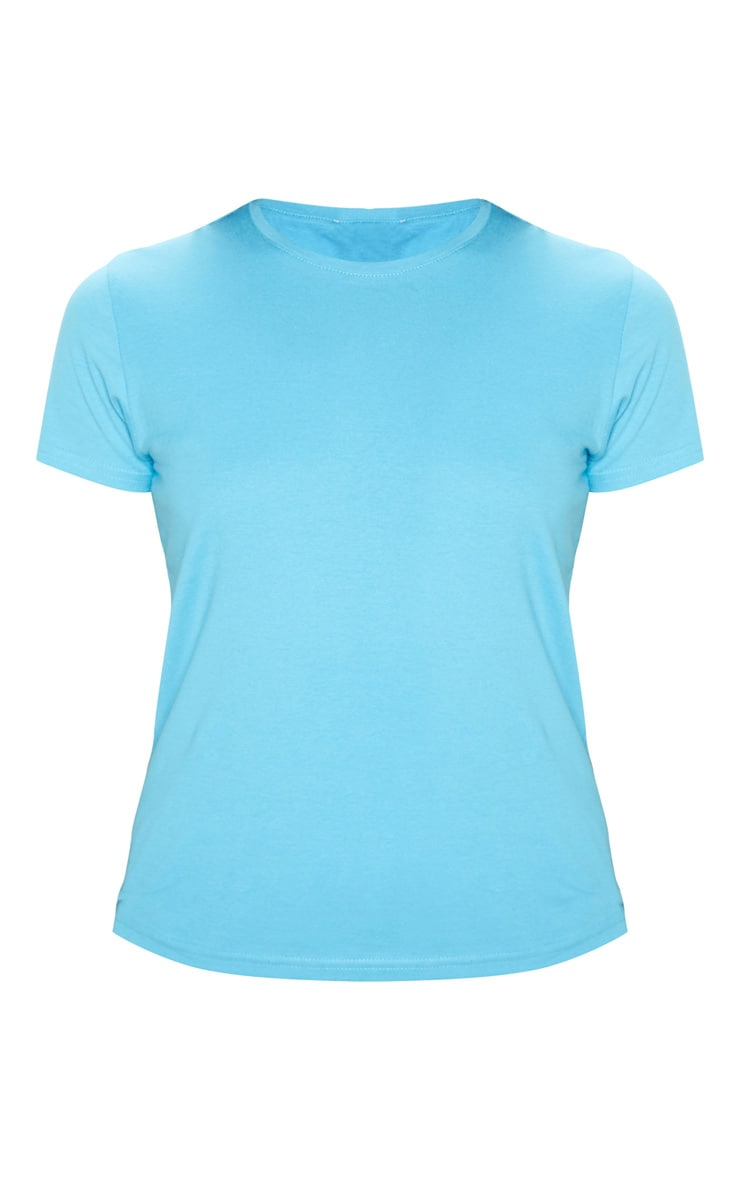 Baby Blue Fitted Short Sleeve T Shirt 3