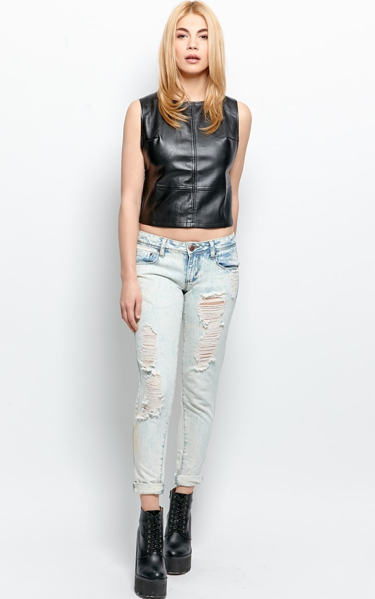 Annalee Racer Back Leather Vest 3