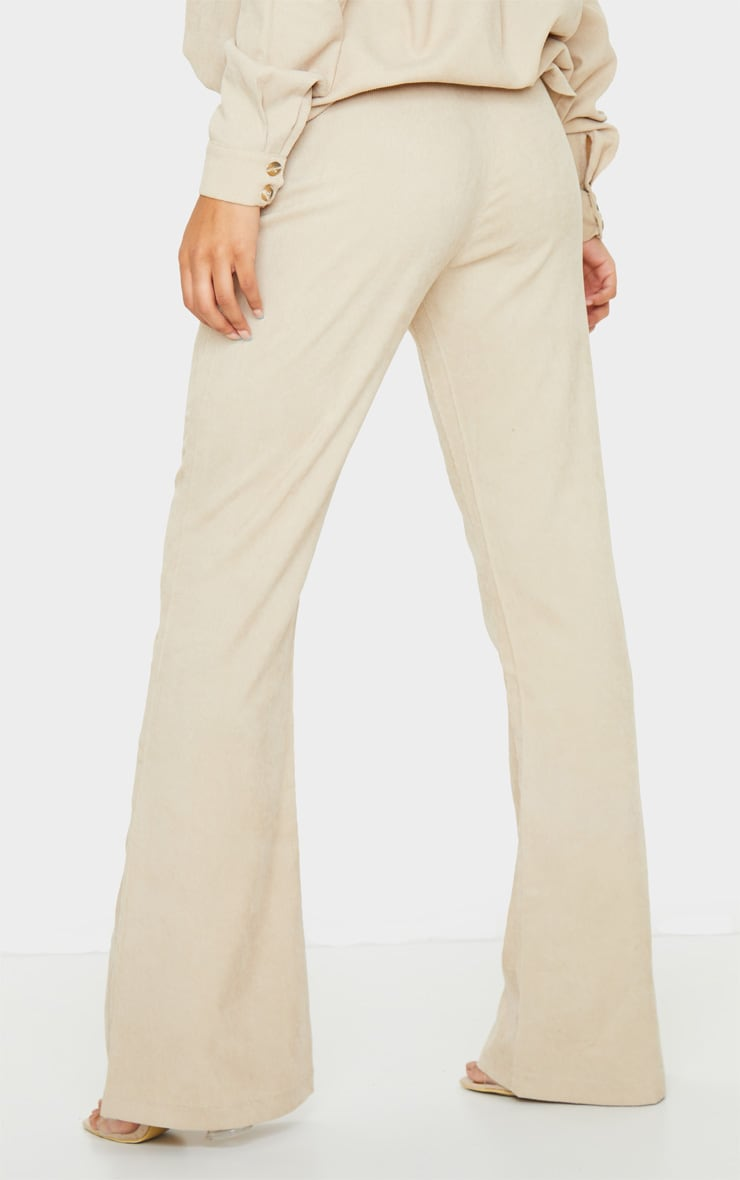 Camel Cord High Waisted Wide Leg Pants 4