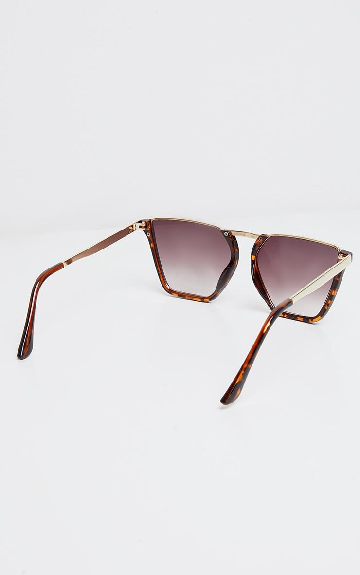 Brown Tortoise Half Frame Sunglasses 4
