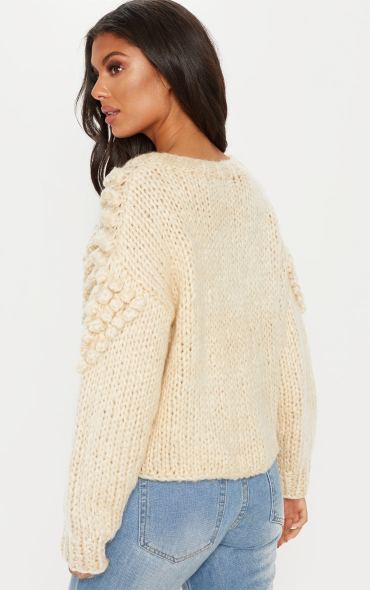 Stone Bobble Knit Sweater 2