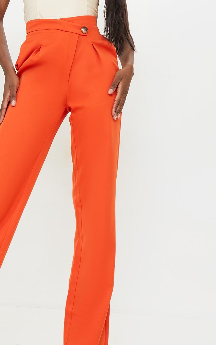 Tall Rust Asymmetric Dad Pants 4