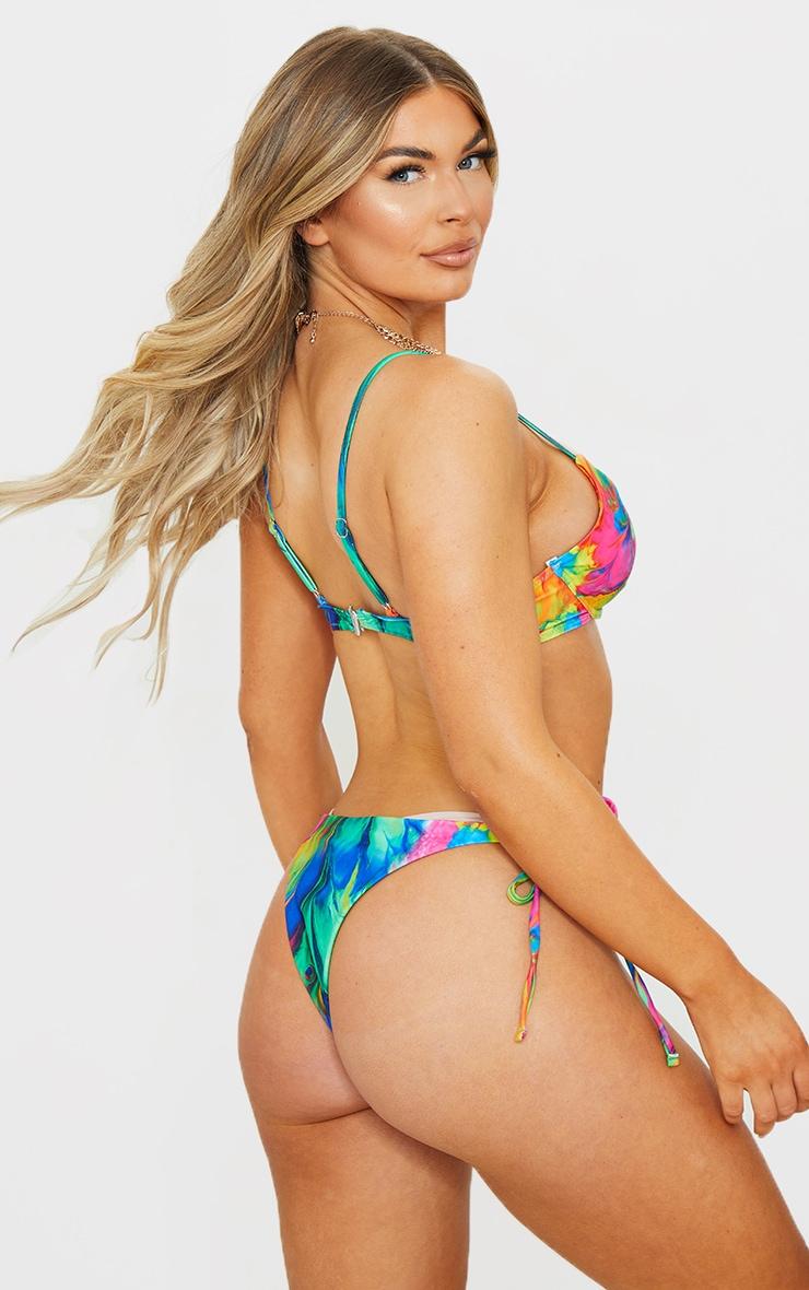 Multi Abstract Print Underwired Bikini Top 2