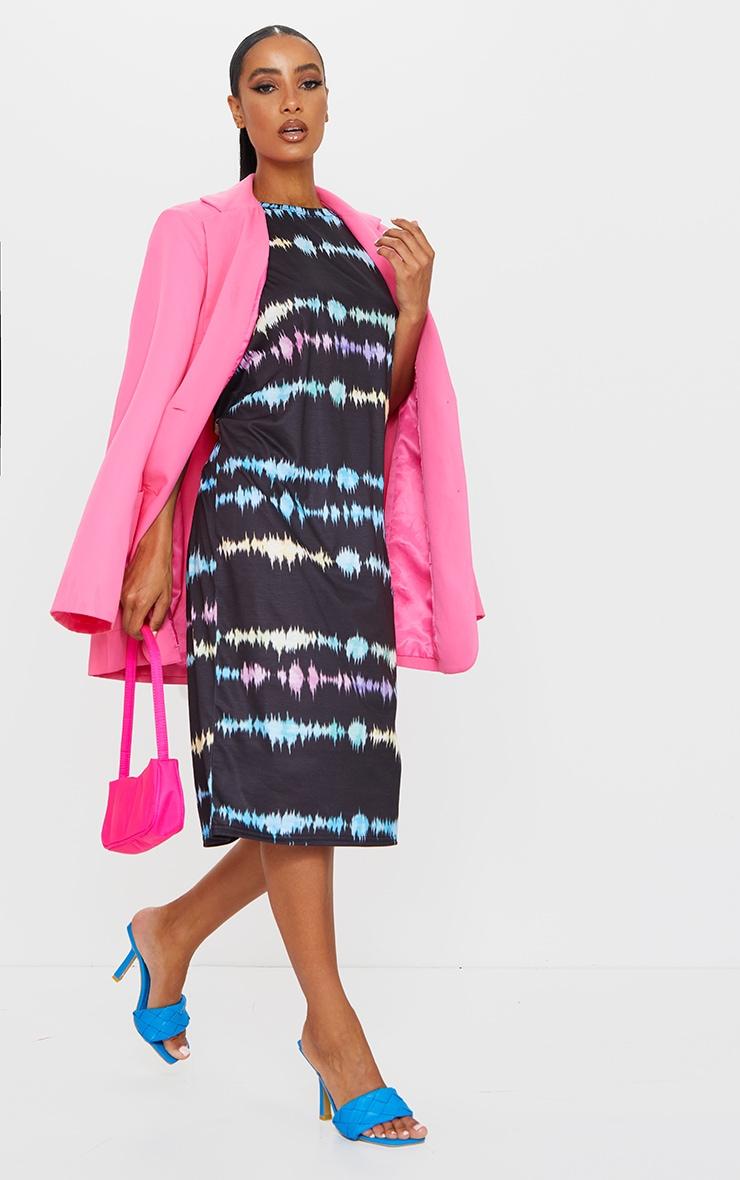 Multi Print Tie Dye Print Midi T Shirt Dress 3