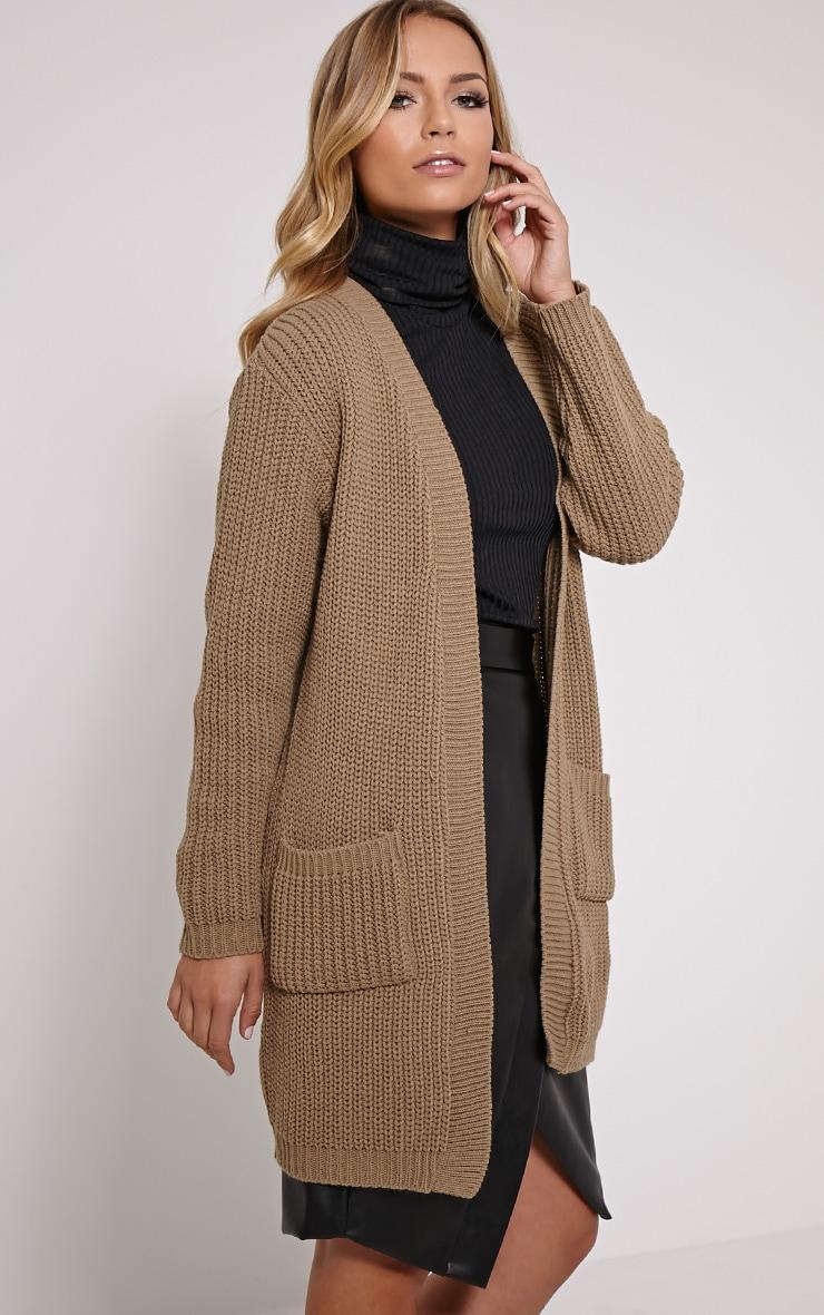 Sophia Taupe Oversized Longline Cardigan 3