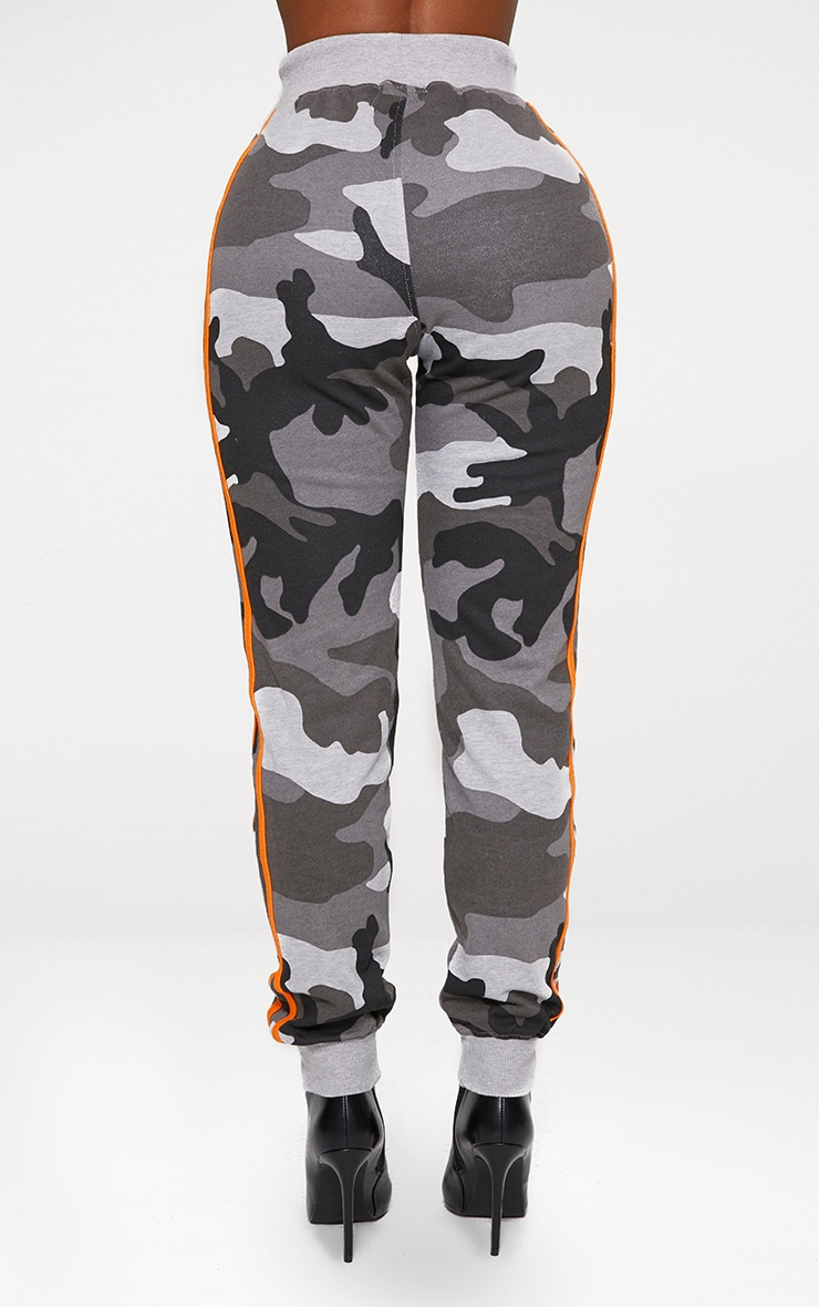 Shape Grey Camo Side Stripe Joggers 3