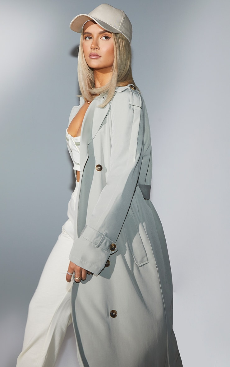 Sage Green Trench Coat 1