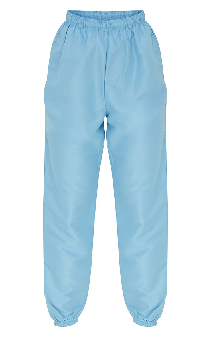 Ice Blue Peached Skin Joggers 5