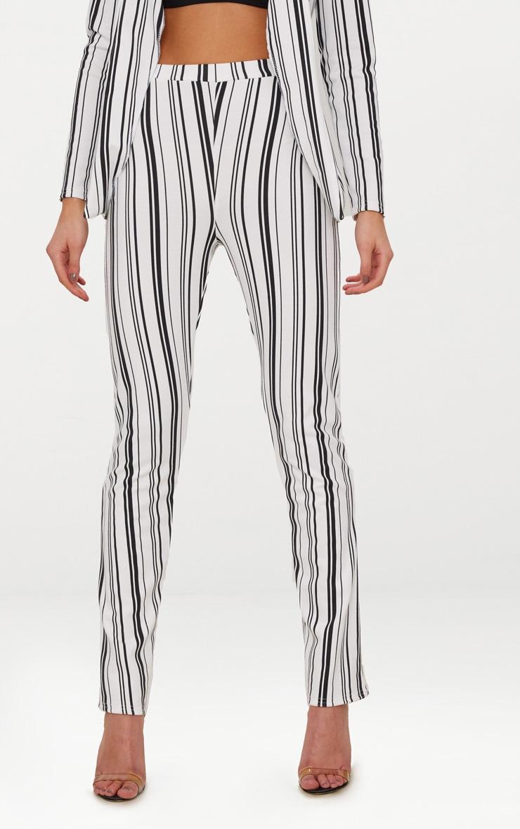 White Stripe Cigarette Trousers 2